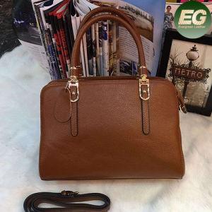 Luxury Satchel Bag Ladies Plain Leather Tote Handbags Emg4814 pictures & photos