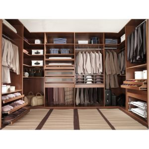 Classics Luxury L-Shaped Solid Wood Open Closet for Cloakroom pictures & photos