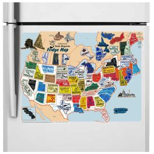 High Quality Magnetic Fridge Map pictures & photos
