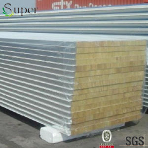 Thermal Insulation Rock Wool Sandwich Panel for Steel Building pictures & photos