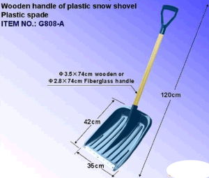 Wooden Handle Plastic Snow Shovel with Grip pictures & photos