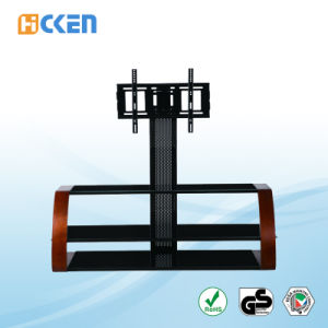 Cheap Outdoor Modern LED LCD Glass and Wood TV Stand pictures & photos