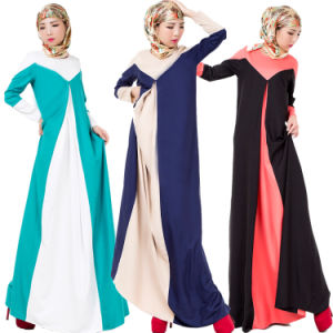 Linen Muslim Long Sleeve Kaftans, Islamic Jilbab Arab Abayas (A990) pictures & photos