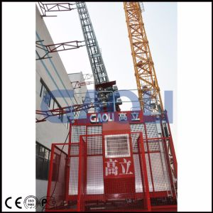 Gaoli 2ton Rack-and-Pinion Three-Drive Double-Cage Construction Hoist pictures & photos