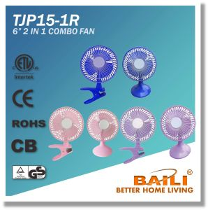 """Hot Sale 6"""" 2 in 1 Combo Fan pictures & photos"""