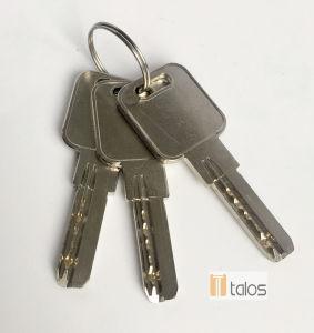 Door Lock Standard 5 Pins Euro Double Cylinder Secure Lock Satin Nickel pictures & photos