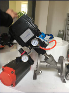Flanged Pneumatic Angle Seat Valves with Positioner Yt1000L pictures & photos