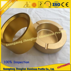 Customized Anodized Gold Aluminium Extrusion Products with Aluminum CNC pictures & photos