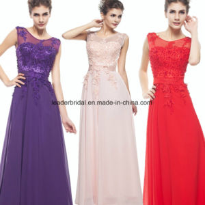 Blue Pink Chiffon Party Prom Gown Evening Dress Ez01 pictures & photos