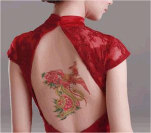Fashionable Phoenix Temporary Tattoo Sticker Art Tattoo Sticker