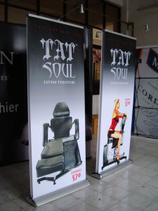 Double Side Roll up Banner Stand for Exhibition Trade Show pictures & photos