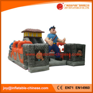 Inflatable Prison Castle Slide Jumping Bouncer for Kids Amusement (T6-210) pictures & photos