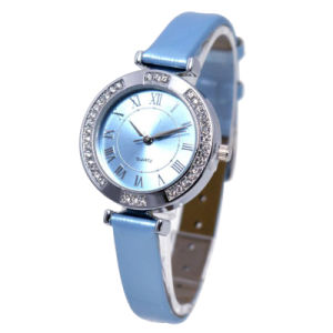 Blue Color Alloy Waterproof Watch with Japan Movement Watch pictures & photos