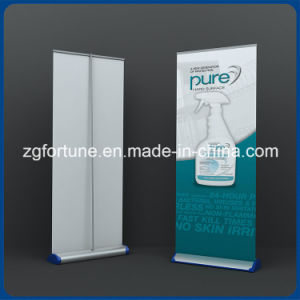 Display Product White Base Aluminum Roll up Stand pictures & photos