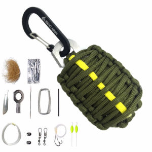 Camping Survival Emergency Kit Fishing Kit with Fire Starter and Knife pictures & photos