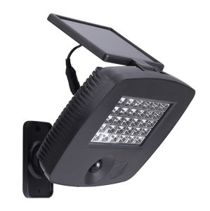 Solar Garage Light PIR Sensor High Powered Solar Panel Outdoor 30LED Garden Lamp Spotlight pictures & photos