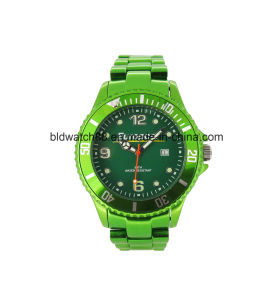 Luxury Mens Designer Metallic Wrist Watch Gold Tone pictures & photos