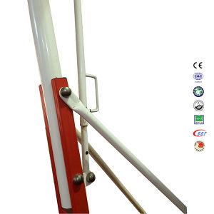Red Movable Height SMC Board Basketball Stand with Backboard pictures & photos