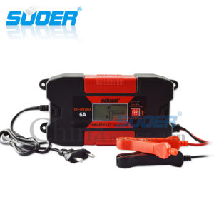 Suoer 12V 6A Smart Automatic Fast Solar Car Battery Charger (DC-W1206A) pictures & photos