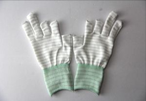 Cleanroom 13 Gauge PU Palm Coated Gloves pictures & photos