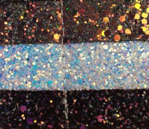 Fancy Glitter PU Leather Fabric for Upholstery Sandals Watchbands Hw-511 pictures & photos