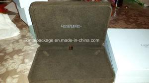 Luxury Velvet Round Corner Jewelry Box pictures & photos