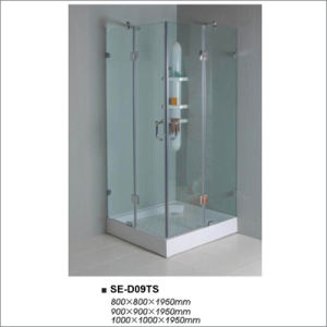 Transparent Glass Four-Door Shower Enclosure with Square Tray pictures & photos