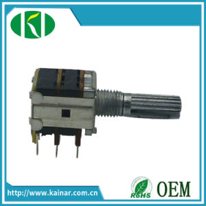 Jiangsu 12mm Dual Gang Rotary Volume Control 10k Linear Potentiometer pictures & photos