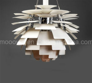 European Version 100% Replica Aluminum Pine Cone pH Artichoke Pendant Lamp with White and Copper Color