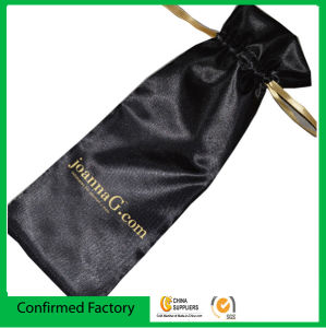 High-Quality Satin Fabric Gift Bag Favor Pouch with Ribbon pictures & photos