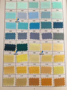 Polyester Satin Fabric, Satin Silk Fabric, Twist Satin, 500 Colors for You to Choose! (Color Chart 1) pictures & photos