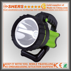 Rechargeable Cordless 8W Spotlight with Warning Light for Searching pictures & photos