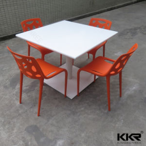 Coffee Shop Stone Solid Surface Modern Dining Table pictures & photos