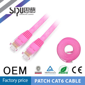 Sipu RJ45 Copper CAT6 Flat Patch Cord Network Cable pictures & photos