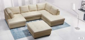 Living Room Sofa Furniture Modern Leather Sofa with Corner Home Sofa pictures & photos