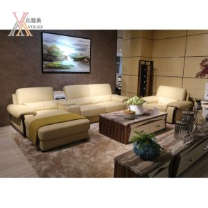 Top Grain Leather Sofa with Armrest (1636B) pictures & photos