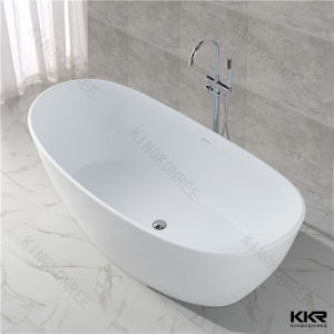 Simple Design Acrylic Solid Surface Freestanding Oval Bathtub pictures & photos
