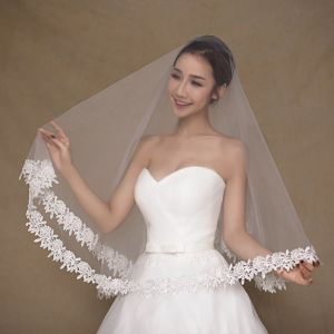 Aoliweiya Tulle One Layer Short Wedding Veil for Bride pictures & photos