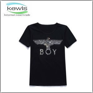 Newest Fashion Men′s T-Shirt with Silk Printing pictures & photos