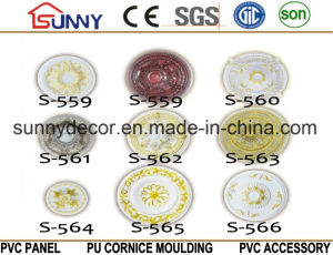 PU Ceiling Medallion Tile/Decorative Ceiling Medallions/Polyurethane Cornice Moulding pictures & photos