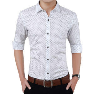 2017 Men Slim Fit Casual Shirts Cotton Long Sleeve Shirts pictures & photos