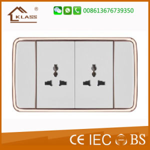 New Design 118 One Gang Switch and 3pin Thailand Wall Socket pictures & photos