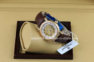 Fashion Diamond Skeleton Automatic Ladies Wrist Watch pictures & photos