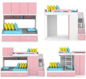 Kids Furniture Wooden Bunk Bed (NOBEL) pictures & photos