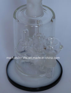 Factory Handblown Glass Smoking Water Pipes with Triple Percolator Smoking Bubbler pictures & photos