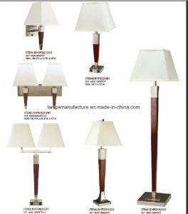 UL cUL Ce RoHS Brushed Nickle Rocket Switch USB Power Outlet Floor Lamp with White Linen Lamp Shade pictures & photos