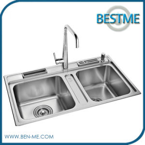 Sanitary Ware Steel Material Brushed Kitchen Sink (BS-7014F) pictures & photos