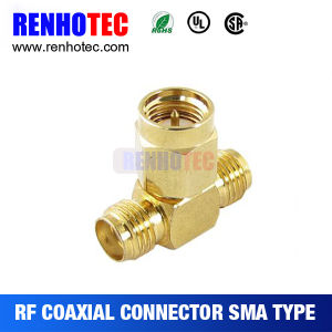 T Adapter SMA Female to Double Female Electrical SMA Connectors pictures & photos