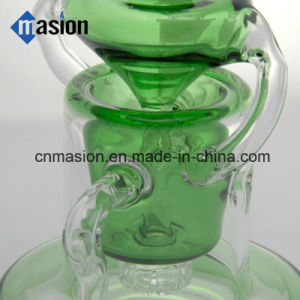 Green Recycler Smoking Water Pipe Glassware for Tobacco (BY004) pictures & photos
