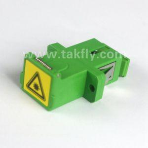 Sc/APC Duplex Shutter Fiber Optical Adapter pictures & photos